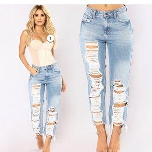 Fashion Nova You Go Girl Boyfriend Jeans